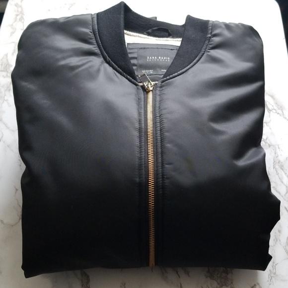 b566fa766 Zara Basic oversized bomber jacket sz L